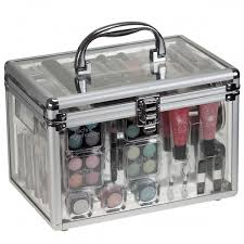 makeup sets technic essentials clear cosmetic carry case makeup set