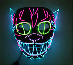 unique masks unique cat king modeling led cold light glowing multicolor masks