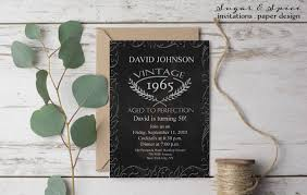 aged to perfection birthday invitation 50th birthday