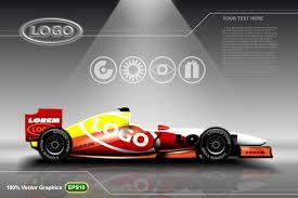 race car ads template mock up vector premium download