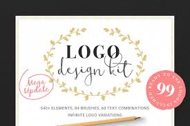logo design kit logo templates creative market