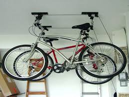 Bike Hanger Ceiling by Bike Rack For Garage With Wall Mount Models Mounted Storage