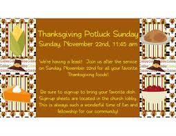 thanksgiving potluck lunch unity church for creative living