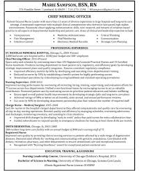 Best Resume Sample For Nurses by Civilian Nurse Cover Letter