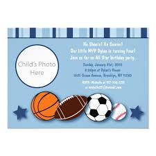 birthday invites awesome sports birthday invitations designs