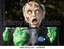 Toxic Halloween Costumes Halloween Man Toxic Waste Barrel Stock Photo Royalty Free