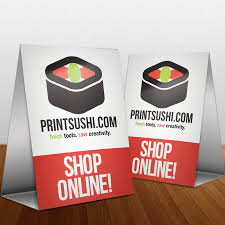 Tent Card Designs Printsushi Card Printing Flag Banners Vinyl Banners And