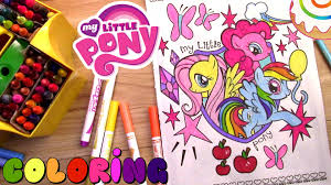 my little pony coloring page rainbow dash fluttershy and pinkie