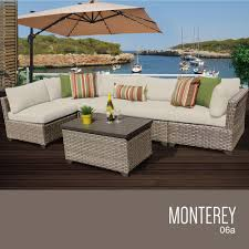 Patio Furniture Set by Tk Classics Monterey Collection Outdoor Wicker Patio Furniture Set