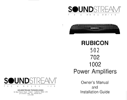 download free pdf for soundstream hr 4 car amplifier manual