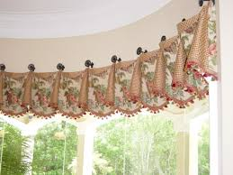 Drapery Medallions Hardware Cuffed Valance On Medallions With Tassel Fringe Secured With