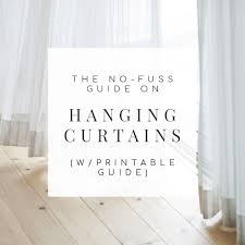 Properly Hanging Curtains The No Fuss Guide On How To Hang Curtains