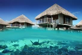 bungalow bora ocean bora bora french polynesia blue lagoon