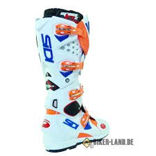 white motocross boots crossfire 2 srs motocross boots orange fluo white blue