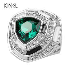 glass wedding rings aliexpress buy kinel vintage jewelry green glass wedding