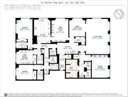 Central Park Floor Plan by Philanthropist U0027s Refined 15 Central Park West Pad Goes Into