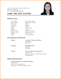 sample simple resume examples of resumes simple resume sample for fresh graduate resume sample philippines simple frizzigame resume sample simple