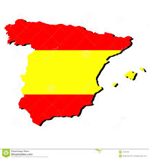 Spain On A Map by Flag And Map Of Spain Royalty Free Stock Image Image 6649156