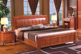 high quality china guangdong furniture solid wood frame bed