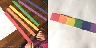 Easy Arts And Crafts For Kids With Paper - construction paper crafts for kids 3d rainbow art twitchetts