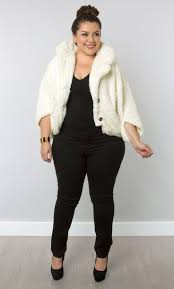 Stylish Plus Size Clothes How To Combine Plus Size Casual With A Faux Fur Coat Fur