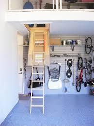 retractable attic ladder garage mezzanine u2014 nuvo garage