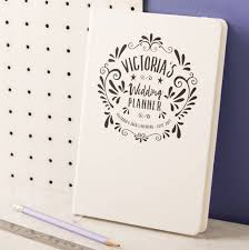wedding planning notebook personalised wedding planner notebook by oakdene designs