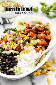 Easy Main Dish - sweet potato burrito bowls real housemoms