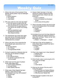 printable quizzes uk weekly quiz classroom solutions new zealand