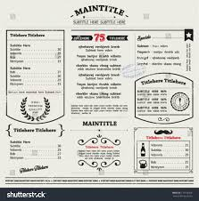 editable menu template restaurant menu template frames graphic elements stock vector