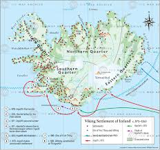 Viking Map Viking Settlement Of Iceland C 870 U20131263