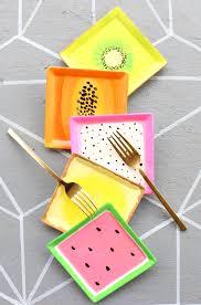 horderve plates paint it fruit slice appetizer plates a kailo chic