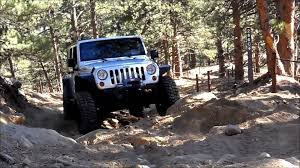 crashed white jeep wrangler ripp supercharged jeep wrangler unlimited jk off road youtube