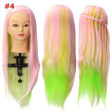 8 colors salon hairdressing braiding practice mannequin