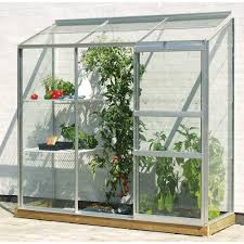 6ft X 8ft Greenhouse Aluminium Lean To Green Houses Halls Palram
