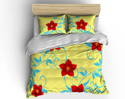 hawaiian duvet cover etsy