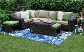 Rattan Garden Furniture Amazon Com Ae Outdoor Williams 8 Piece Sectional With Sunbrella