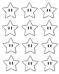 super mario bros printable star confetti splendid