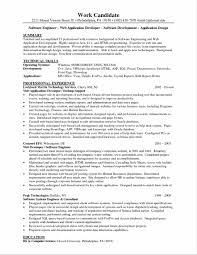 Resume Sample Software Engineer by Manager Samples Marketing Specialist Web Web Resume Examples