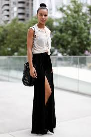 black maxi skirt with slit how to style a maxi skirt 2018 fashiongum com