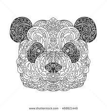 vintage vector panda tribal ornaments stock vector 468621449