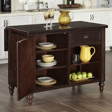 Kitchen Island Carts With Seating Home Styles Americana Black Kitchen Island With Seating 5003 948