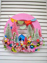 springtime wreaths vintage gnome garden party springtime wreath gnome garden