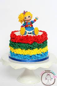 rainbow brite cake rainbow brite was made from satin ice fondant