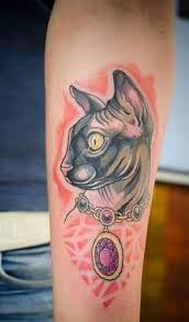 sphynx cat tattoo by tylerrthemesmer on deviantart