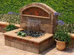 Backyard Water Fountain by Attractive Outdoor Patio Water Features Beautiful Back Patio Water