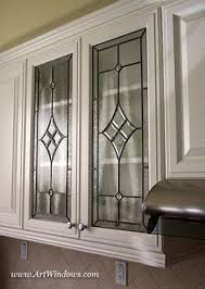 leaded glass kitchen cabinets faux leaded glass change doors and glass