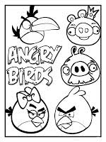 angry birds colouring pages templates