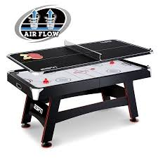 air powered hockey table espn 72 inch air powered hockey table with table tennis top in