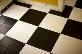 black white tile checkered floors are always in fashion start